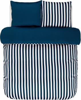 Marc OPolo Classic Stripe indigo blau (155x220+80x80cm)