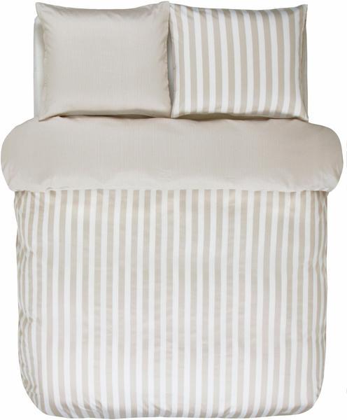 Marc O'Polo Classic Stripe 80x80+155x220cm oatmeal