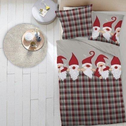 Dormisette Weihnachtsmänner 80x80+135x200cm