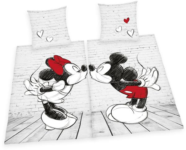 Herding Minnie und Mickey Mouse im Partnerpack 2x80x80+2x135x200cm