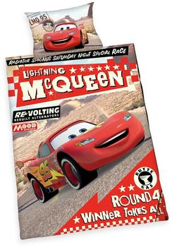Herding Bettwäsche 100x135cm Renforcé - Disney Cars Lightning McQueen