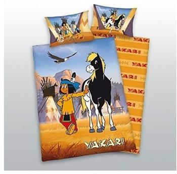 Herding Bettwäsche (100 x 135 / 40 x 60) Yakari gelb