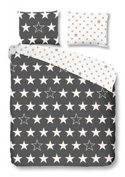 Good Morning! good morning Bettwäsche Stars 5263 antracite Flanell,