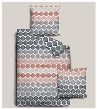 DORMISETTE Biber Bettwäsche 2 teilig Bettbezug 135 x 200 cm Kopfkissenbezug 80 x 80 cm
