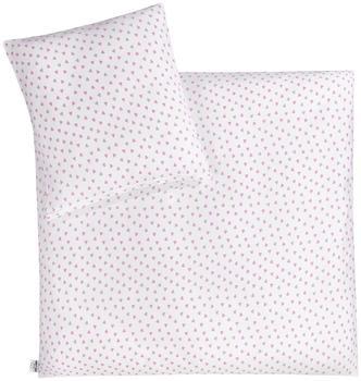 Julius Zöllner Jersey Bettwäsche Herz pink Gr. 80x80 + 35x40 cm