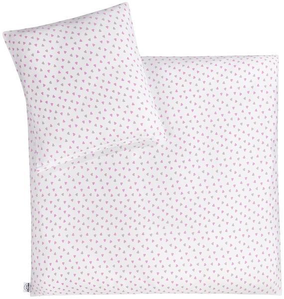 Julius Zöllner Bettwäsche Jersey 80x80cm - Herz pink