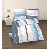 Ido Bettwäsche Set 2 tlg. blau weiß grau 135x200 cm (80x80 cm)