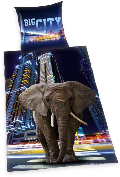 Herding Hyoung Collection Big City Elephant 80x80+135x200cm