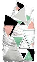 SUEÑOS Bettwäsche »Remix«, mit bunten Dreiecken weiß 1x 155x220 cm,