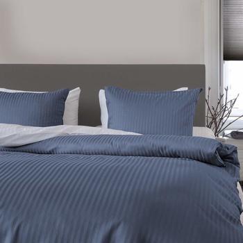 HNL Living Uni Stripe steel blue (155x220+80x80cm)