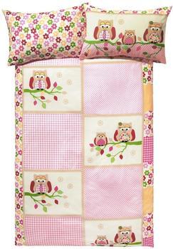 Dobnig Bettwäsche Eule pink (135x200+80x80cm)