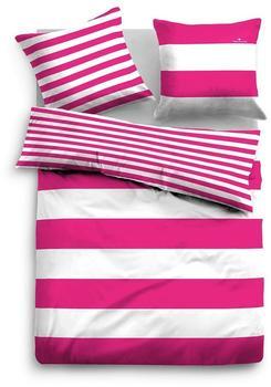 Tom Tailor Wendebettwäsche 49769 Streifen pink (135x200+80x80cm)