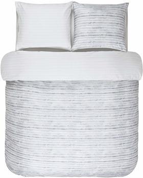 Marc OPolo Wendebettwäsche, Marc OPolo, »Veln«, mit Querstreifen und Muster grau, 1x 155x220cm,