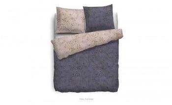 HNL Living Pitea Mako-Satin-Bettwäsche mit Velvet Touch, 155x220 + 1x 80x80, Violett