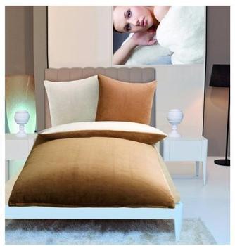 Gözze Cashmere-Feeling 80x80+135x200cm sand/weiß