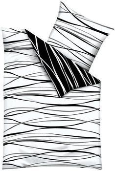 KAEPPEL Motion Mako-Satin schwarz/weiß (155x220+80x80cm)