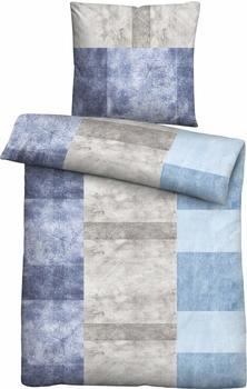 Biberna Biberna Mako Satin Bettwäsche 80x80+135x200cm blau (636019-256)