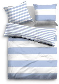 Tom Tailor Wendebettwäsche 49769 Streifen hellblau (135x200+2x80x80cm)
