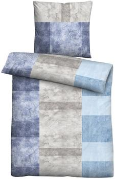 Biberna Biberna Mako Satin Bettwäsche 80x80+155x220cm blau (636019-256)
