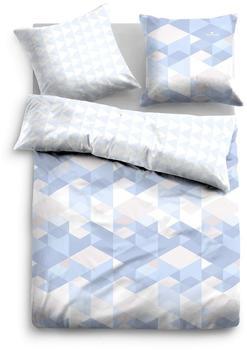 TOM TAILOR »Rauna«, mit grafischem Muster blau 1x 135x200 cm