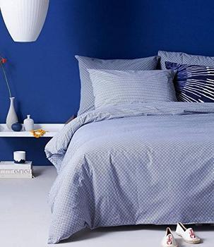 Damai Bettwäsche »Kusa«, mit feinen Ornamenten blau, 1x 200x200 cm,