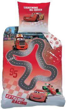 Disney Cars Circuit 135 x 200 cm, 80 x 80 cm rot