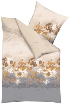 Kaeppel Bettwäsche »Flair« mit Blumen natur 1x 155x220 cm