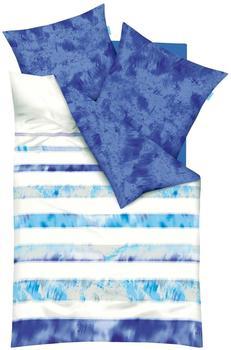 KAEPPEL kaeppel, Zoom mit Streifen, blau 1x 135x200 cm