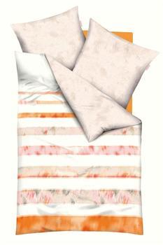 KAEPPEL Bettwäsche kaeppel, »Zoom«, mit Streifen, orange 1x 135x200 cm