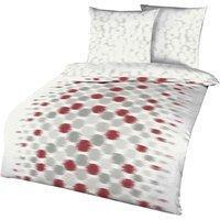 Kaeppel Bettwäsche »Sombra«, mit Kreisen, rot 1x 135x200 cm