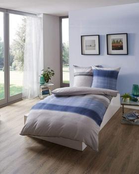 KAEPPEL Bettwäsche Trace mit Streifen blau, 1x 135x200 cm