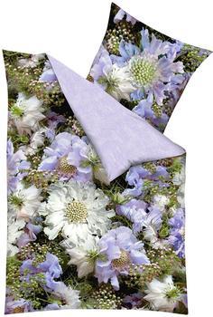 kaeppel Wendebettwäsche Blumen lila (135x200+80x80cm)