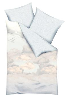 KAEPPEL Bettwäsche »Clouds«, mit Wolken, grau 1x 155x220 cm