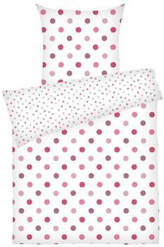 Dyckhoff Bettwäsche Püncktchen pink (135x200+80x80cm)