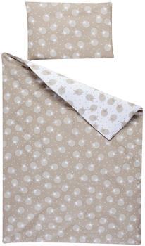 Schardt Bettwäsche 2-teilig 100x135 cm - Schäfchen beige
