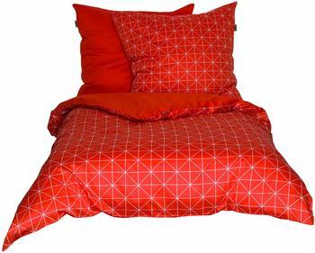 SCHÖNER Wohnen Schöner Wohnen, »Grid«, mit grafischem Muster orange 1x 155x220 cm