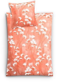 Kleine Wolke Pretty, mit Blumendruck, orange 1x 155x220 cm