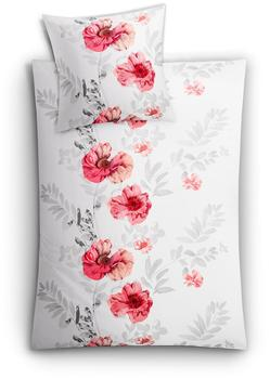 KLEINE WOLKE Eve, mit Blumen, grau 1x 155x220 cm