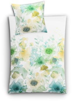Kleine Wolke Flores grün (155x220+80x80cm)