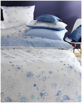 Curt Bauer Claudia Mako-Satin blau (220x240+2x80x80cm)