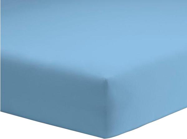 Schlafgut Spannbetttuch Mako-Jersey 180x200-200x200cm ice