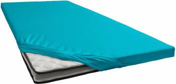 Schlafgut Topper-Spannbetttuch Jersey-Elasthan 180x200-200x220cm türkis