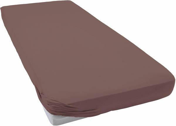Schlafgut Frottee-Stretch Spannbetttuch 90x190-100x200cm kastanie
