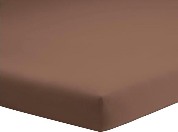 Schlafgut Topper-Spannbetttuch Jersey-Elasthan 140x200-160x220cm kakaobraun
