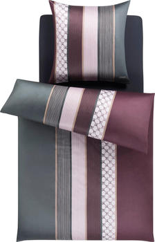 Joop! Cornflower Stripes 80x80+155x220cm deep wine