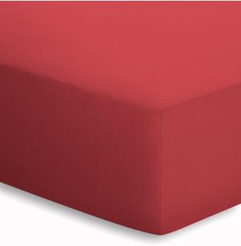 Schlafgut Basic Jersey-Spannbetttuch 90x190-100x200cm kirsche