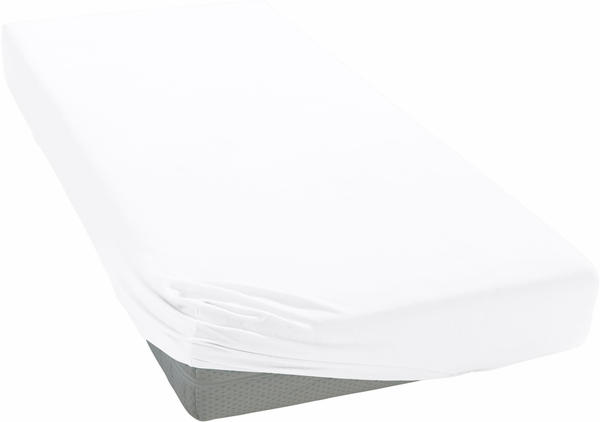 Curt Bauer Mako-Satin Spannbettlaken 140x200cm weiß