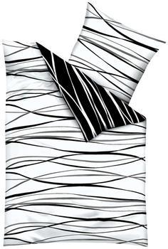 Kaeppel Motion Satin 80x80+135x200cm schwarz/weiß