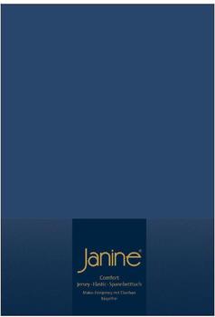 Janine Spannbetttuch Jersey 140x200-160x200cm 82 marine
