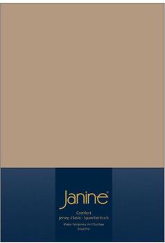 Janine Spannbetttuch Jersey 140x200-160x200cm 37 nougat